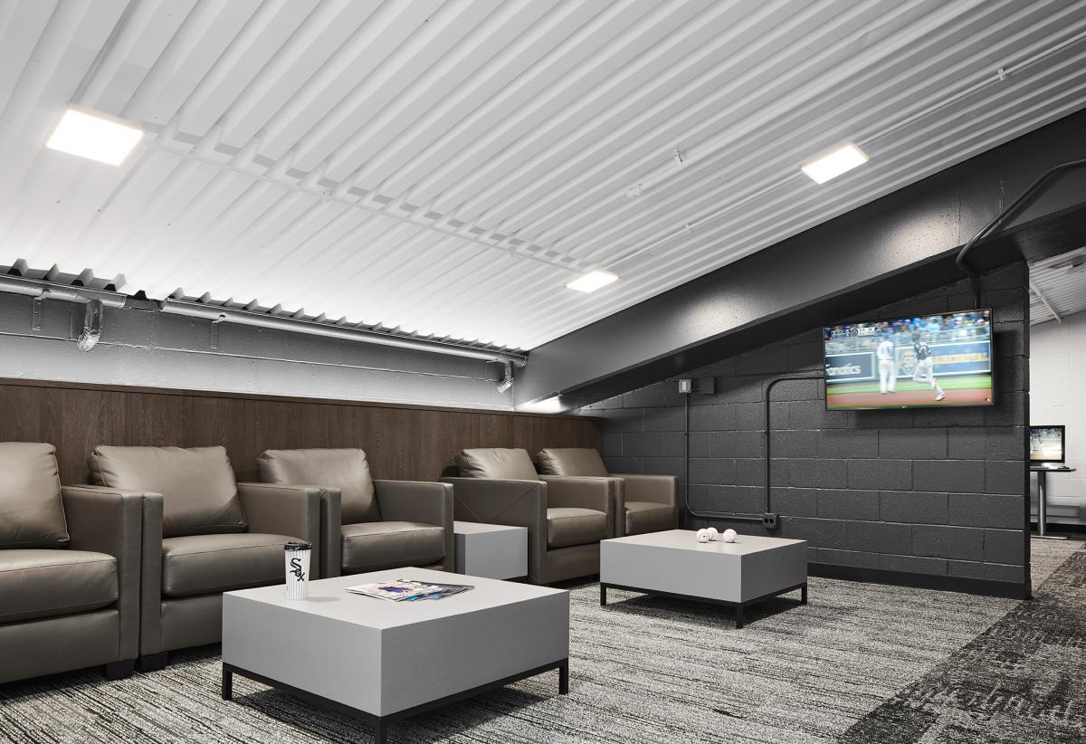 The Chicago White Sox Visitors\' Locker Room! | Interior Construction ...